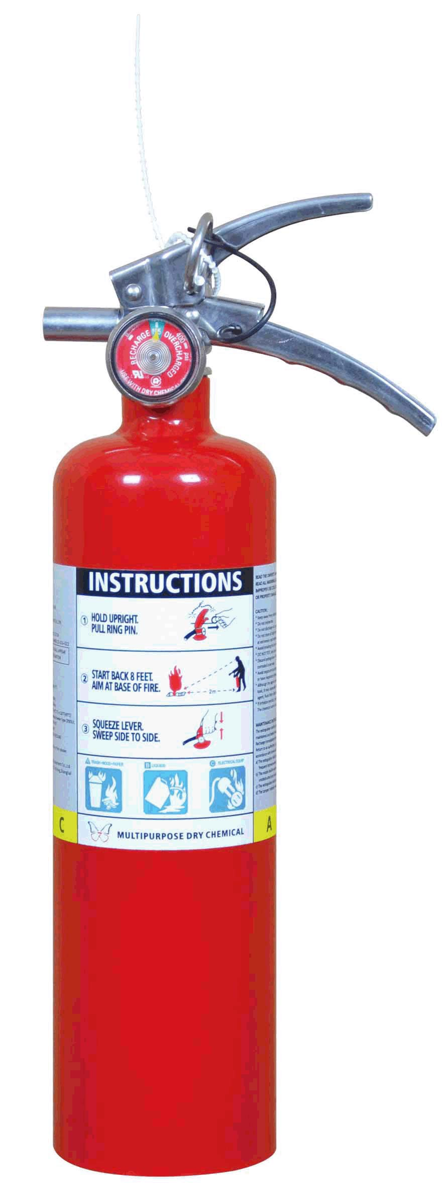 2.5LB MULTIPURPOSE DRY CHEMICAL POWER FIRE EXTINGUISHER