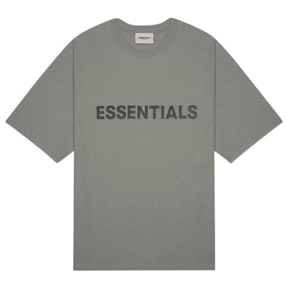FEAR OF GOD - ESSENTIALS -Boxy T-shirt Charcoal
