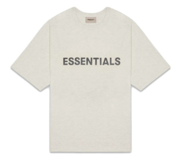 FEAR OF GOD - ESSENTIALS -Boxy T-shirt Light heather Oatmeal