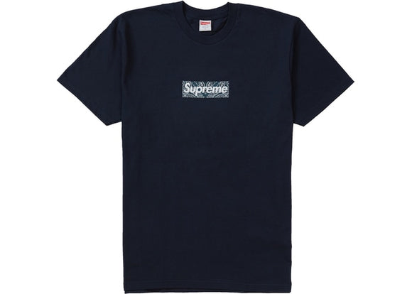 Supreme Bandana Box logo T-shirt - Navy