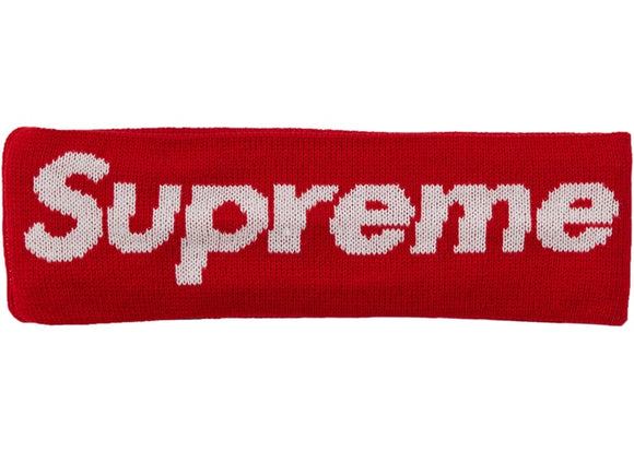 Supreme New Era Big Logo Headband - Red