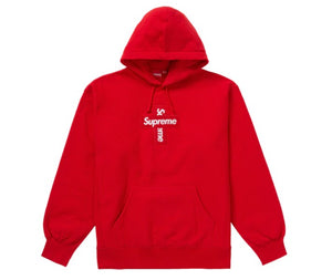Supreme Cross Box Logo Hoodie Red