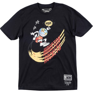 Travis Scott x B/R x Mitchell & Ness Rockets T-Shirt - black