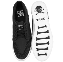 Load image into Gallery viewer, A9186 BLK TWILL WHT OUTSOLE NO RING VULC SNEAKER