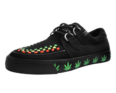 A9374 - Black Canvas Weed VLK Sneaker