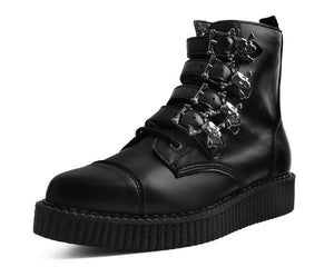 A9409 - Black TUKskin™ Skull Buckle Pointed BooT