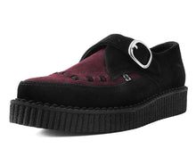 Load image into Gallery viewer, A9592 - Black & Burgundy Cow suede Point Toe Creeper