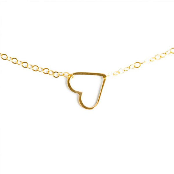 Sweet Heart Necklace Gold