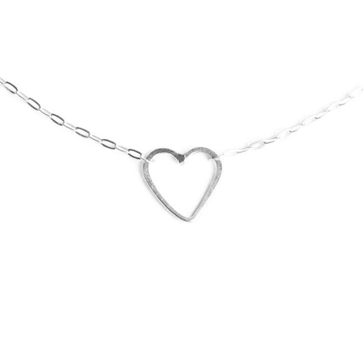 Sweet Heart Necklace Silver