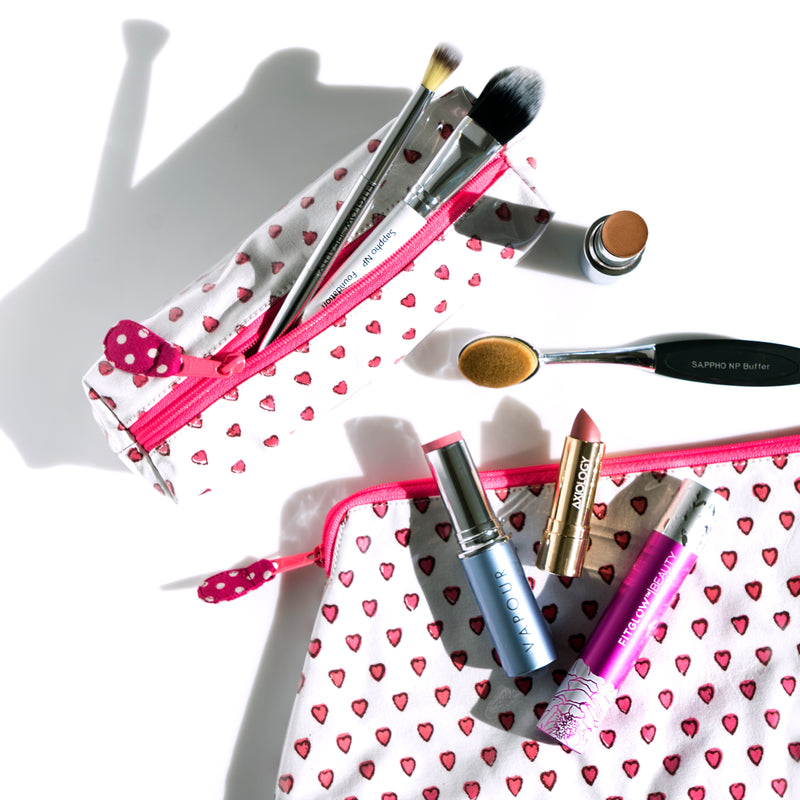 Hearts Makeup Case