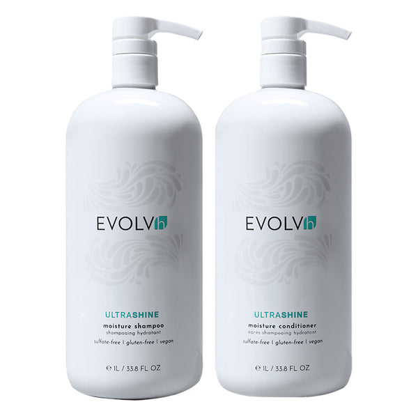 UltraShine Moisture Shampoo + Conditioner Liter Duo