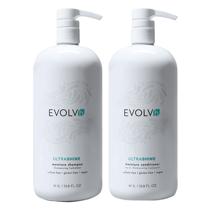 UltraShine Moisture Wash + Conditioner Liter Duo