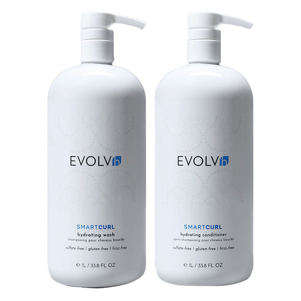 SmartCurl Hydrating Wash + Conditioner Liter Duo