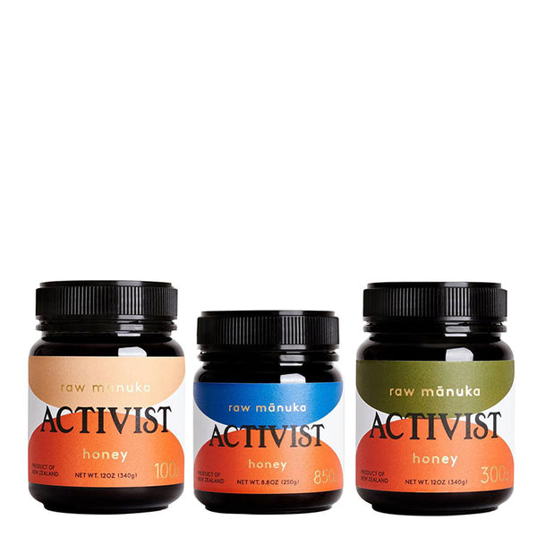 Activist Survival Kit Raw Mānuka Honey Box Set Trio