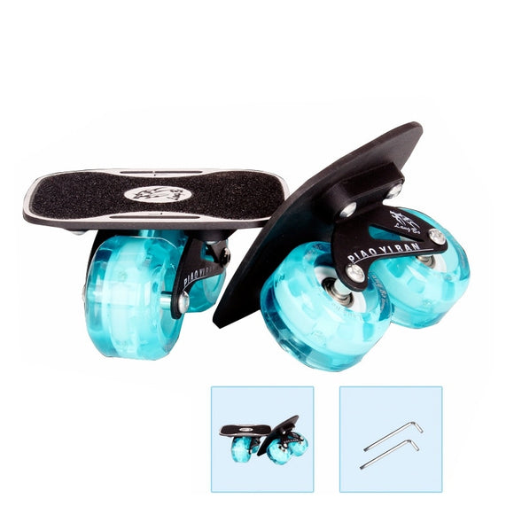 free shipping free line skate drift board upgraded version flashing wheel