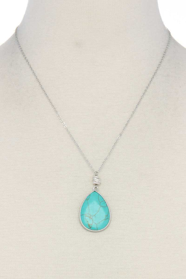Stone tear drop shape necklace