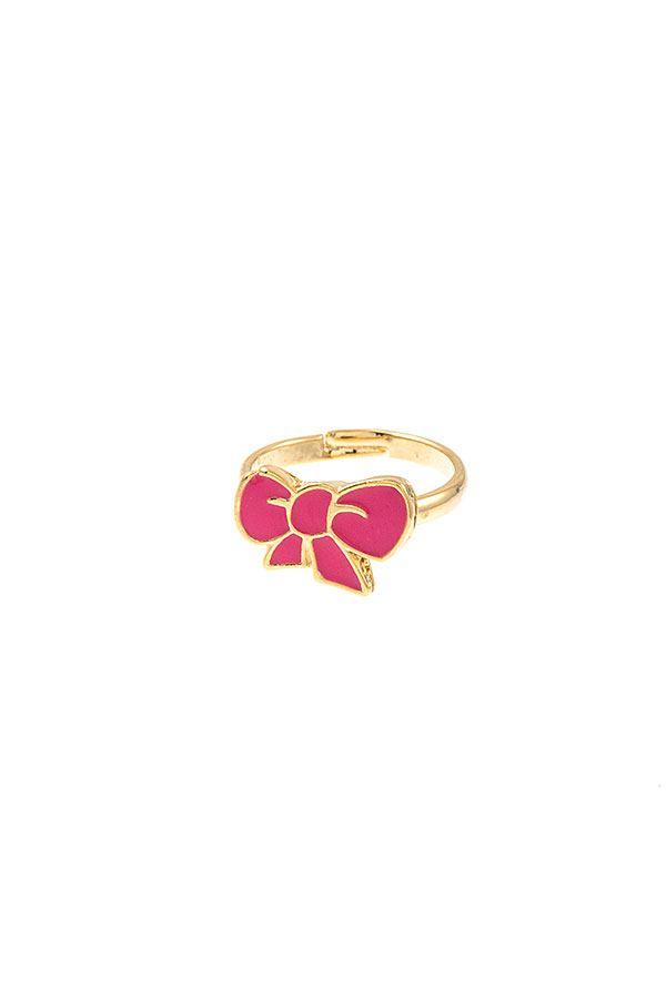Dainty Bow Mid Ring