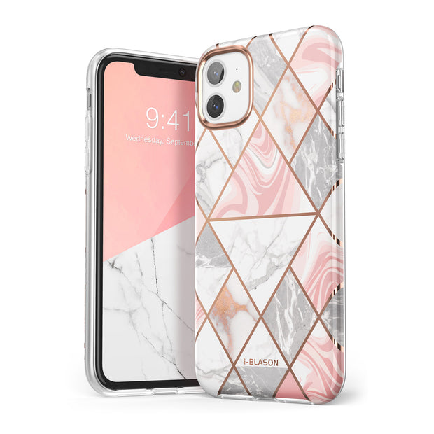 iPhone 11 Cosmo Lite Case-Marble Pink