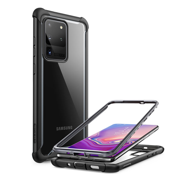 Galaxy S20 Ultra Ares Clear Rugged Case-Black