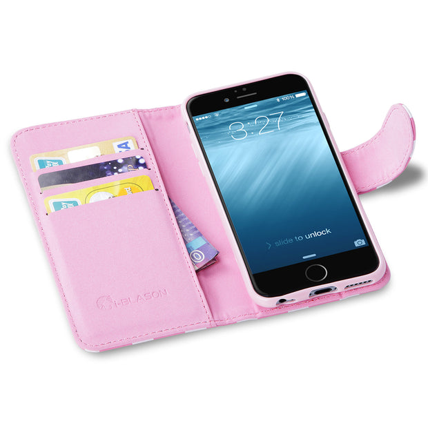 iPhone 6S | 6 Leather Book Case-Pink