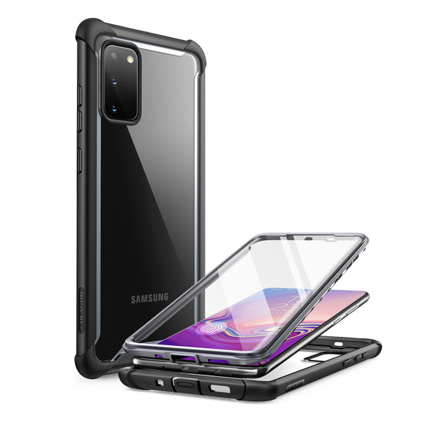 Galaxy S20 Ares Clear Rugged Case (with Screen Protector)-Black