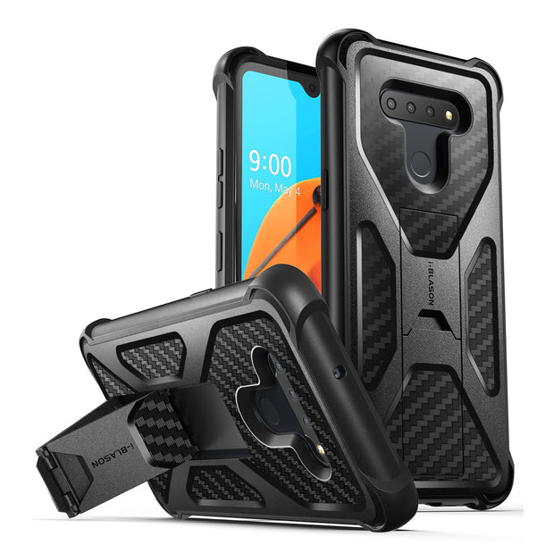 LG K51 Transformer Rugged Bumper Case-Black