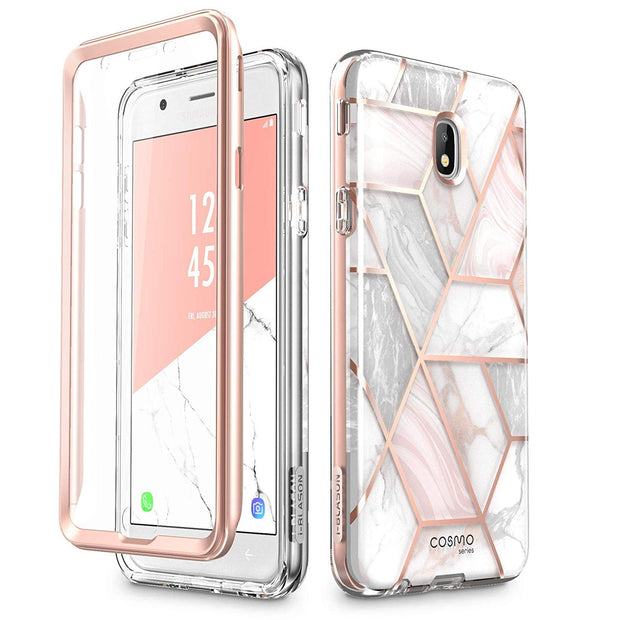 Samsung Galaxy J7 (2018) Cosmo Case-Marble Pink