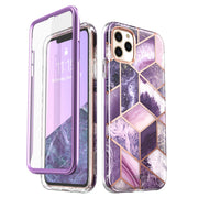 iPhone 11 Pro Cosmo Case-Marble Purple