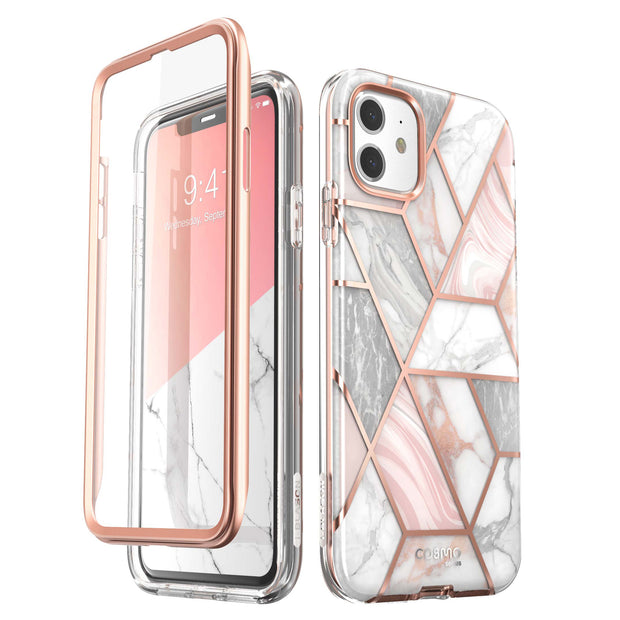 iPhone 11 Cosmo Case-Marble Pink