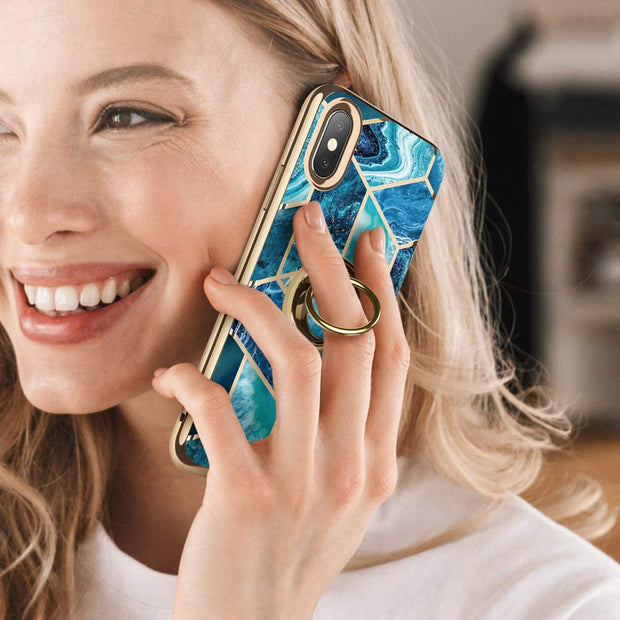 iPhone XS | X Cosmo Snap Case-Ocean Blue