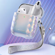 Apple AirPods 1 | 2 Gems Designer Case-Silver
