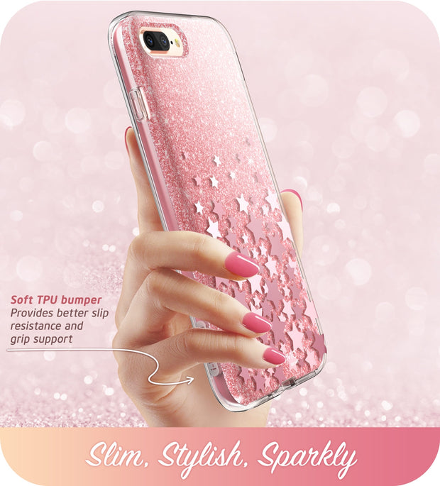 iPhone 8 Plus | 7 Plus Cosmo Case-Glitter Pink