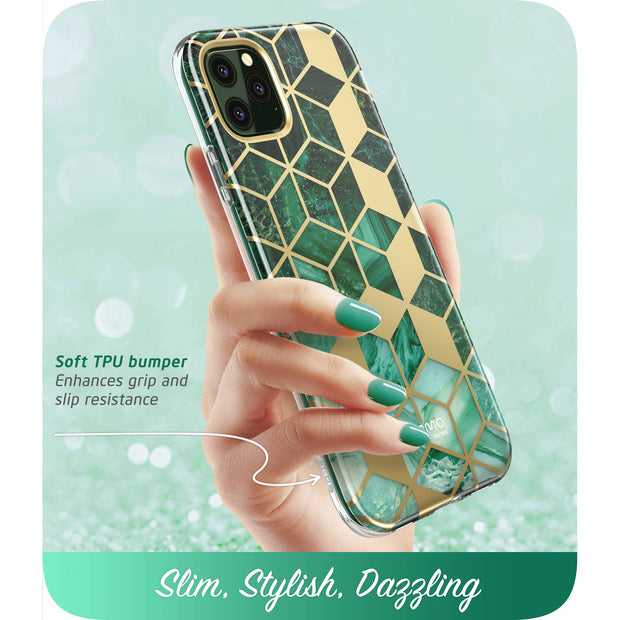 iPhone 11 Pro Cosmo Case-Marble Green