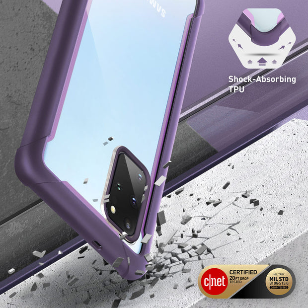 Galaxy S20 Plus Ares Clear Rugged Case-Purple