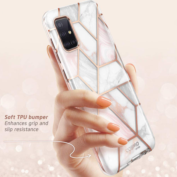 Galaxy A71 5G Cosmo Case-Marble Pink