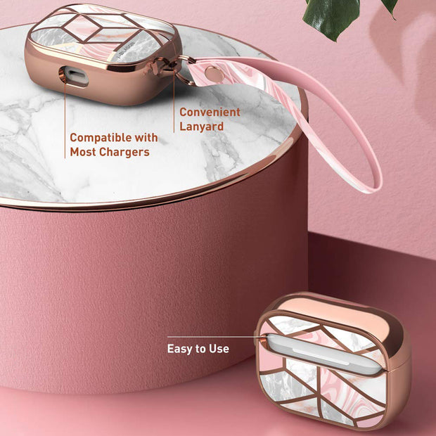 AirPods Pro Cosmo Case-Marble Pink