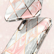 iPhone XR Cosmo Lite Case-Marble Pink