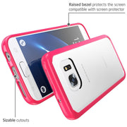 Samsung Galaxy S7 Halo Case-Clear/Pink