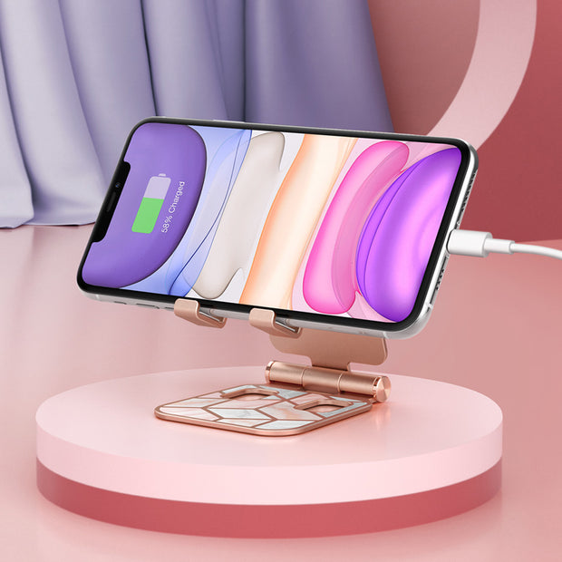 Adjustable Cosmo Cell Phone Stand-Marble Pink