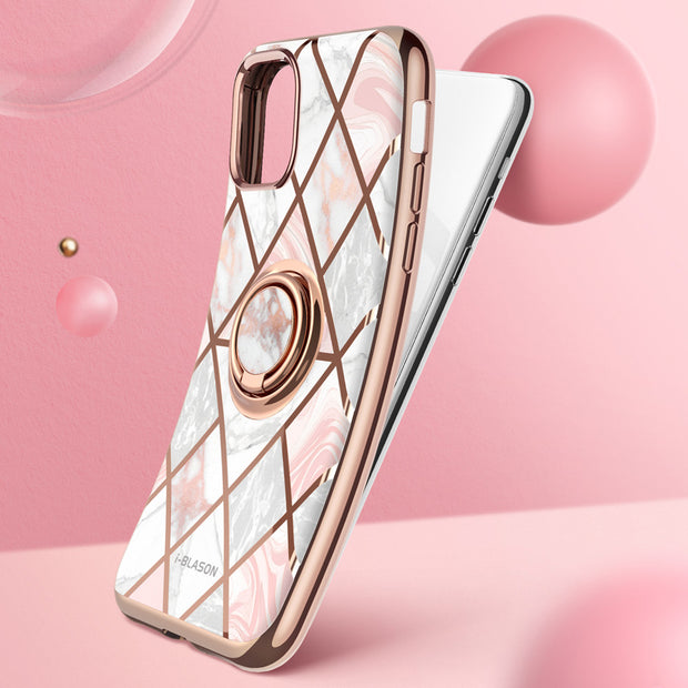 iPhone 11 Pro Max Cosmo Snap Case-Marble Pink