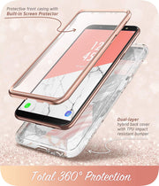 Samsung Galaxy A6 Cosmo Case-Marble Pink