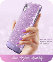 iPhone XR Cosmo Case-Glitter Purple