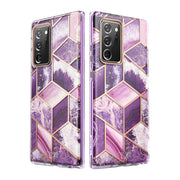 Samsung Galaxy Note20 Ultra Cosmo Case-Marble Purple