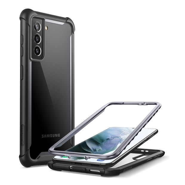 Galaxy S21 Ares Clear Rugged Case-Black