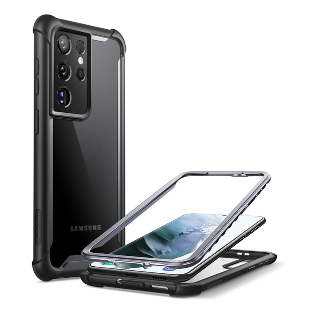 Galaxy S21 Ultra Ares Clear Rugged Case - Black