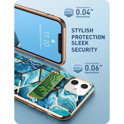 iPhone 11 Cosmo Wallet Case-Ocean Blue