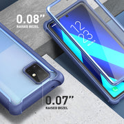 Galaxy A71 5G Ares Clear Rugged Case-Blue