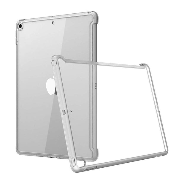 iPad 10.2 inch (2019 | 2020) Halo Smart Keyboard Compatible Clear Bumper Case-Clear