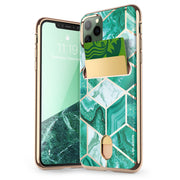 iPhone 11 Pro Max Cosmo Wallet Case-Marble Green