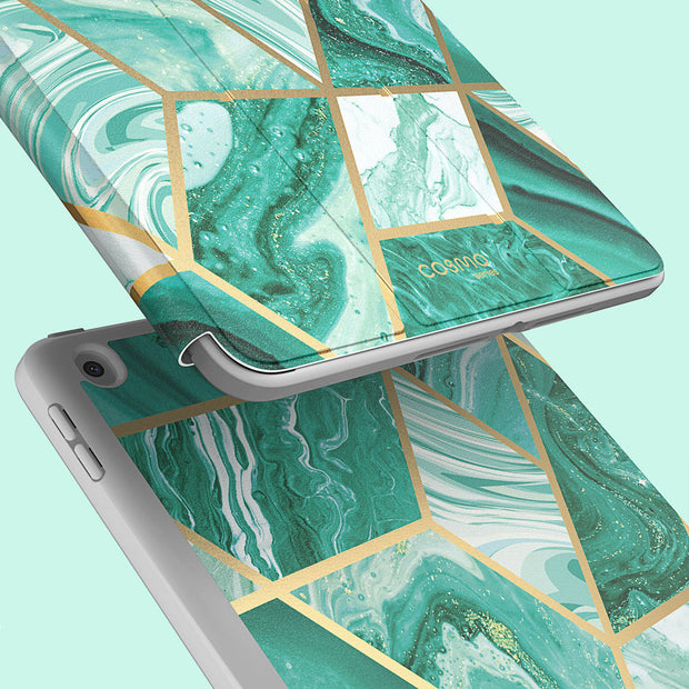 iPad 9.7 inch (2017 & 2018) Cosmo Case-Marble Green